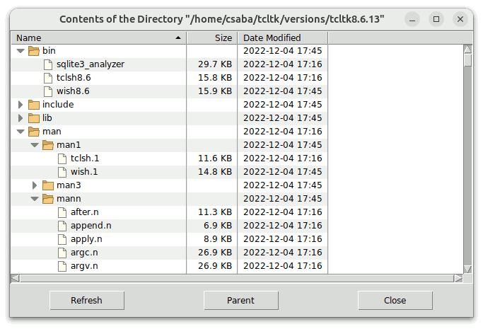 Tablelist Screenshots